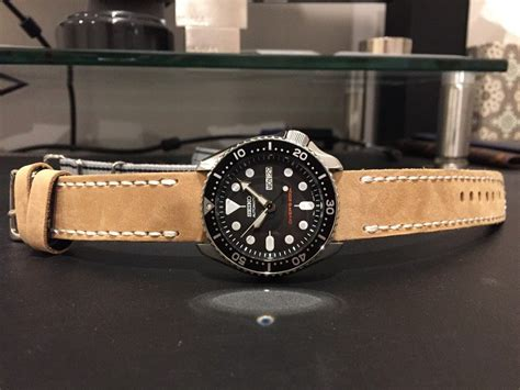 Hublot Senna Grey Brown Leather fs seiko skx007 200m automatic diver on brown leather grey nato mywatchmart