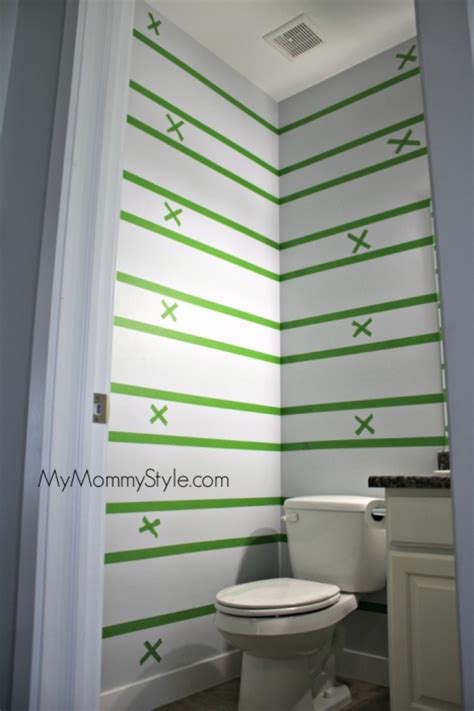 painting stripes in bathroom how to paint horizontal stripes my mommy style