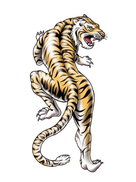 asian tiger tattoo temporary tattoos for kids tattootatu