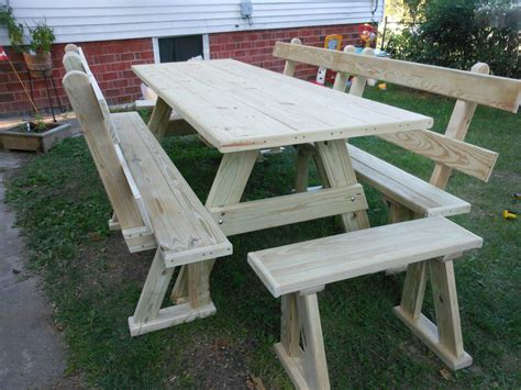 furniture custom made rustic wood outdoor picnic bench