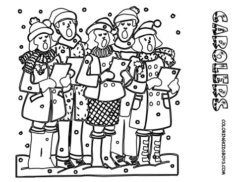 coloring page christmas carolers jolly christmas coloring pages christmas day free