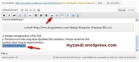 membuat link di blog wordpress cara membuat link di dalam posting blog wordpress