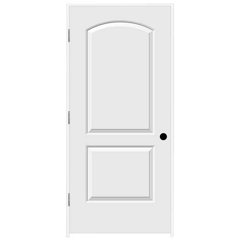 Jeld Wen Interior Doors Home Depot Jeld Wen 36 In X 80 In Continental Primed Right Smooth Solid Molded Composite Mdf