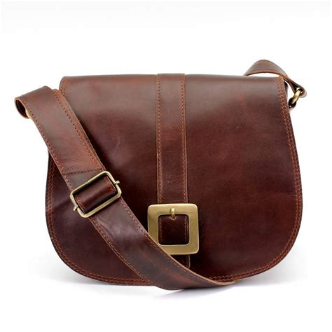 brown leather crossbody brown leather cross messenger bag by the leather store notonthehighstreet
