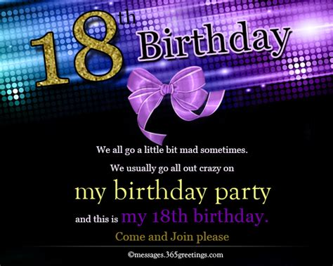 invitation wording for 18th birthday 18th birthday invitations 365greetings