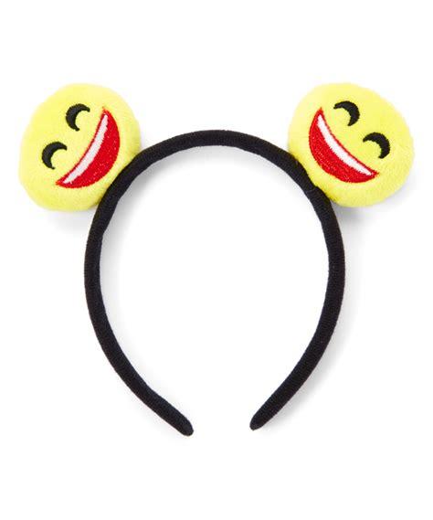 emoji unik unik yellow red happy face emoji headband zulily