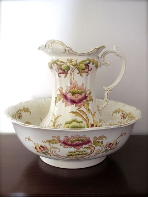 bathroom jug and bowl set sf co fieldings victorian jug and bowl wash bowl