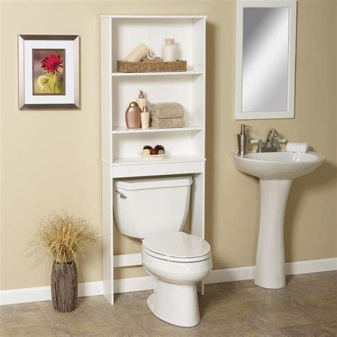 bathroom storage white white ceramic water closet under white stained wooden
