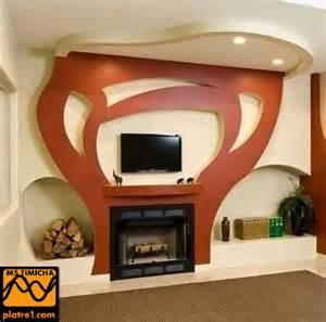 decoration interieur meuble tv platre