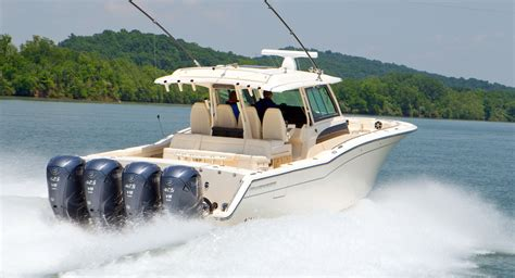 scout boats vs grady white big new yamaha xto offshore 425 outboard revealed boats