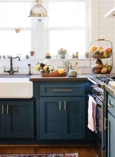 blue green kitchen cabinets 40 colorful kitchen cabinets to add a spark to your home
