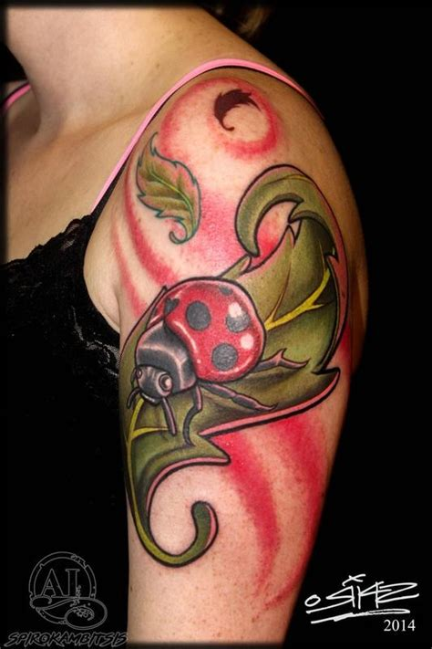cartoon ladybug tattoo ladybug by spiro kambitsis tattoonow