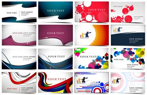 video card layout business cards vector layouts
