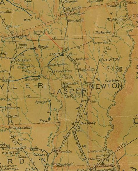 jasper texas map from jasper county texas