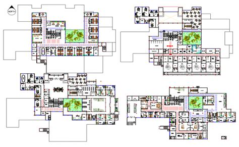 layout design of a hospital hospital layout plan dwg file