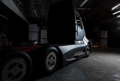 truck tesla thor et one is a tesla semi rivalling truck built by two