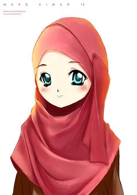 Gambar Kartun Hijab Warna Pink Kartun Muslimah Penelusuran Google