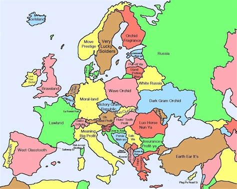 europe map all countries here s a map of european countries with literal