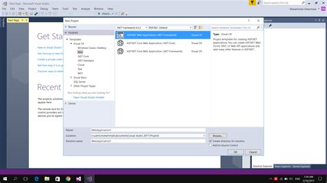 asp net webforms create and edit asp net web forms project on