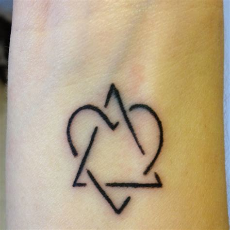 family symbol tattoos adoption symbol representing between adoptive family