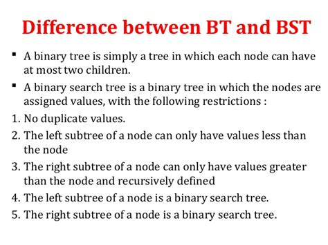 Search Tree Binary Search Tree