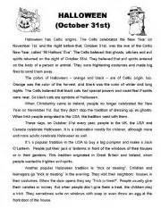 halloween history worksheet by anielli lima
