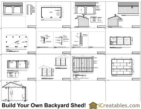 run  shed plans  cantilever roof