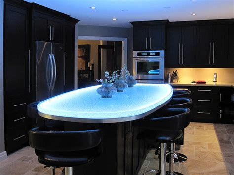 Glass Kitchen Island | glass island contemporary kitchen islands and kitchen