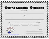Free Award Certificate Templates For Students by Printable Outstanding Student Awards School Certificates