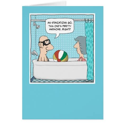 printable humorous anniversary cards free online funny anniversary card tub staycation zazzle