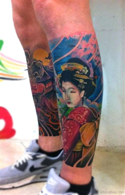 geisha tattoo on thigh 59 graceful geisha tattoos for leg