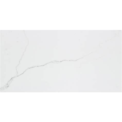 shop calacatta 7 pack white porcelain floor and wall tile common 12 in x 24 in actual 11 75