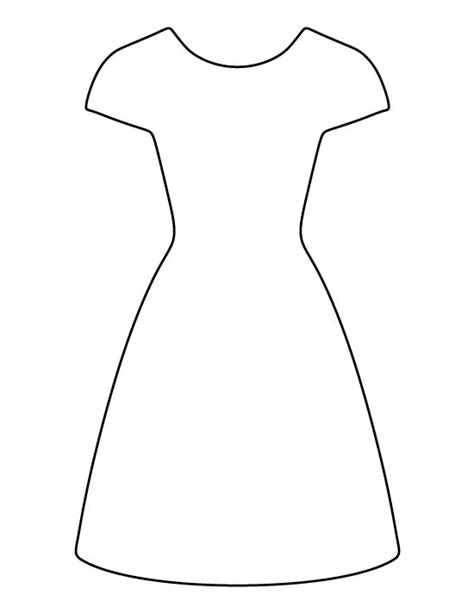 dress pattern use the printable outline for crafts