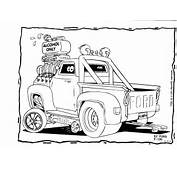 Hot Rod Cartoons Coloring Pages Designs Canvas