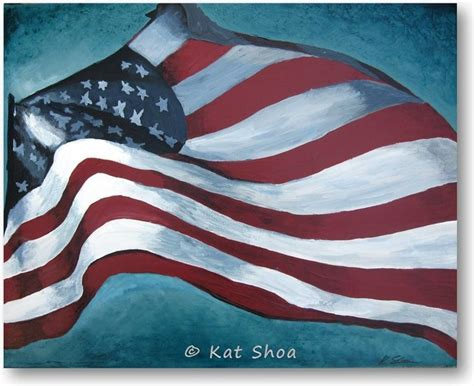 Large American Flag Wall