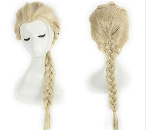 Wig Rambut Sintetis Panjang wig kartun gadis berbulu rambut panjang sintetis