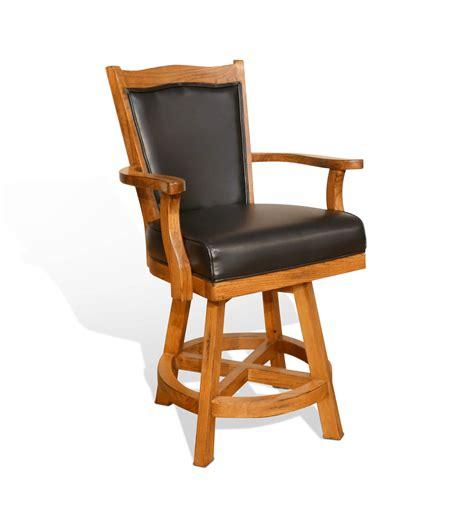 rustic wooden bar stools with cushion and designs sedona rustic oak cushion back barstool