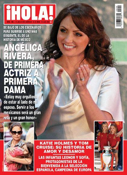 imagenes revista hola angelica rivera esta semana en 161 hola ang 233 lica rivera de primera actriz