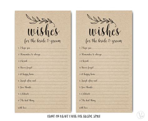 message cards templates printable wishes for the and groom template wedding