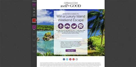 Oprah Com Maui Sweepstakes - oprah com wellandgoodsweeps oprah luxury island weekend escape sweepstakes