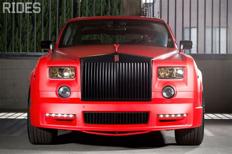 rolls royce ghost red interior matte red mansory phantom rides magazine