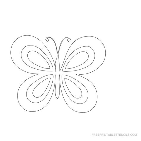 free printable butterfly stencil d crafts pinterest
