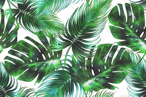 watercolor leaf pattern watercolor tropical leaves pattern watercolors tropical