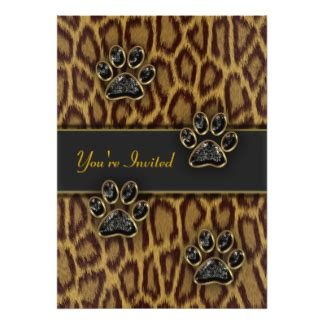 leopard print invitations templates leopard print invitations announcements zazzle au