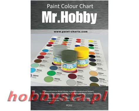 paint colour chart gunze mr hobby 20 mm pjb pc212