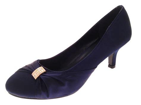 wedding shoes low heel womens low heel satin diamante wedding heels bridal shoes