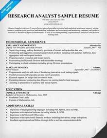 Sample Resume For Research Analyst Market Research Analyst Resume Sample Images