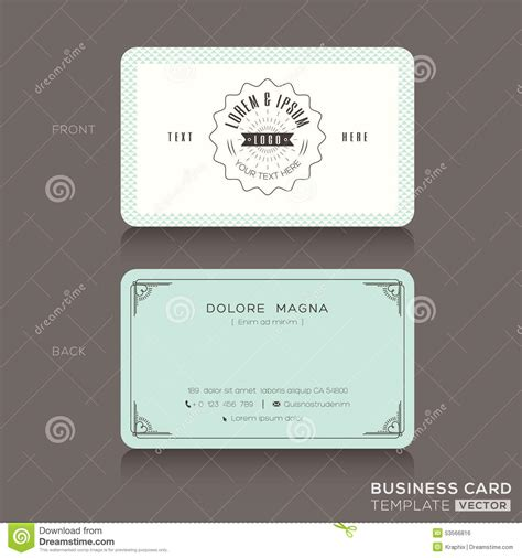 Retro Card Template by Business Cards Business Card Design Inspiration