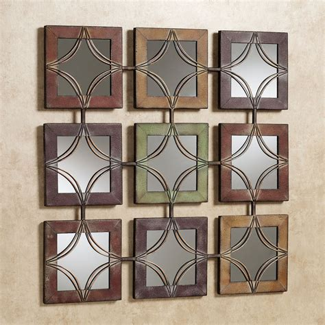 wall decor domini mirrored metal wall