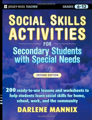 social skills activities for secondary students with